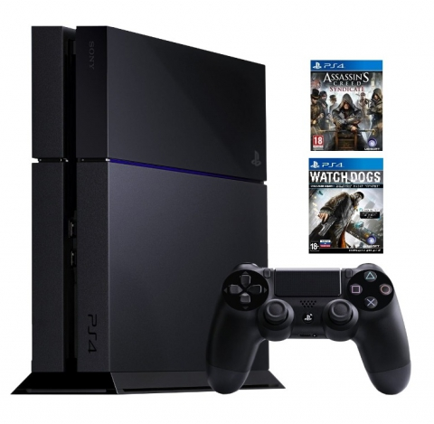 Sony  PlayStation 4 1 Tb + Watch_Dogs + Assassin`s Creed: Синдикат
