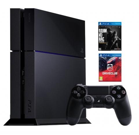 Sony  PlayStation 4 1 Tb + DriveClub + Одни из нас. Обновленная версия